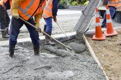 Funcionamento da estrada - concreto imagem de stock royalty free