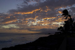 Funcionamento da fonte da noite de Molokai Foto de Stock