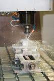 Funcionamento da máquina de trituração - líquido refrigerando Imagem de Stock Royalty Free