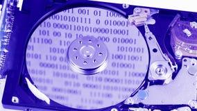 Funcionamento da movimentação de disco rígido (hdd) aberto vídeos de arquivo