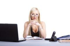 Funcionamento da mulher de negócio Foto de Stock Royalty Free