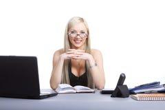 Funcionamento da mulher de negócio Imagens de Stock Royalty Free