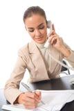 Funcionamento da mulher de negócios Fotografia de Stock