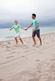 Funcionamento da praia Imagem de Stock Royalty Free
