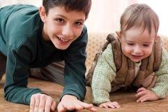 Funcionamento das crianças Imagem de Stock Royalty Free
