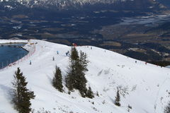 Funcionamento de esqui, Áustria. Foto de Stock