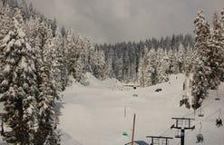 Funcionamento de esqui Fotos de Stock Royalty Free