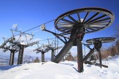 Funcionamento de esqui Fotografia de Stock