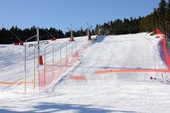 Funcionamento de esqui em Pyrenees Fotos de Stock Royalty Free