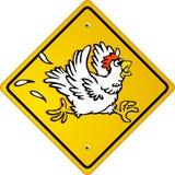 Funcionamento de galinha Fotos de Stock Royalty Free