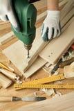 Funcionamento de madeira fotografia de stock royalty free