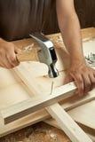 Funcionamento de madeira imagem de stock