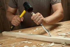 Funcionamento de madeira imagens de stock