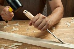 Funcionamento de madeira fotografia de stock