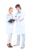 Funcionamento do doutor e da enfermeira Imagem de Stock