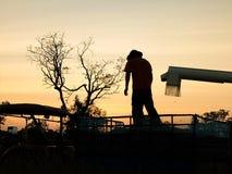Funcionamento do fazendeiro Fotografia de Stock Royalty Free