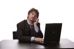 Funcionamento do homem de negócio Fotos de Stock