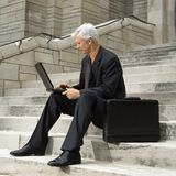 Funcionamento do homem de negócios. Foto de Stock