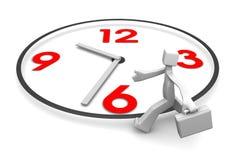 Funcionamento do homem de negócios em uma pressa no tempo. Foto de Stock Royalty Free