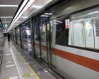 Funcionamento do metro Foto de Stock Royalty Free