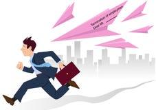 Funcionamento dos deslizamentos cor-de-rosa Imagem de Stock Royalty Free