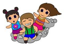 Funcionamento dos miúdos ilustração royalty free