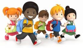 Funcionamento dos miúdos da escola ilustração royalty free