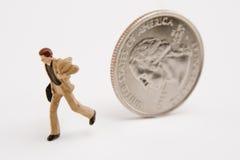 Funcionamento dos problemas do dinheiro Foto de Stock Royalty Free