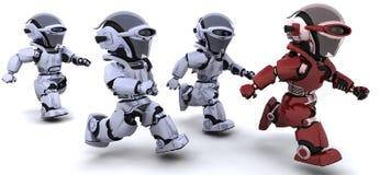 Funcionamento dos robôs Imagem de Stock
