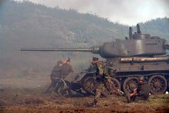 Funcionamento dos soldados. Fotos de Stock Royalty Free