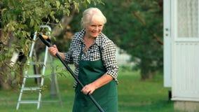 Funcionamento e sorriso fêmeas do jardineiro video estoque