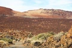 Funcionamento no vulcão Fotos de Stock Royalty Free