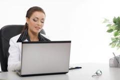 Funcionamento novo da mulher de negócio Imagem de Stock