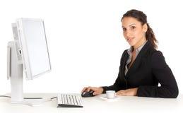 Funcionamento novo da mulher de negócios Fotografia de Stock