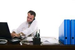 Funcionamento ocupado do homem de negócios Fotos de Stock Royalty Free