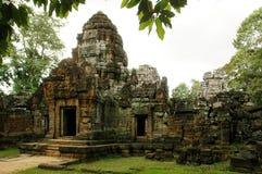 Funcionamentos do templo cambojano antigo Fotos de Stock Royalty Free