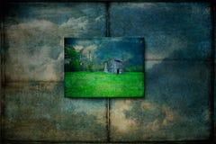 Funcionamiento abandonado abajo Texas Barn Imagen de archivo