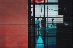 Funcionamiento abstracto de la imagen de los hombres de negocios de las siluetas del ` s fotos de archivo libres de regalías