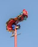 Funcionamiento chino de la danza de león para las celebraciones chinas del Año Nuevo Foto de archivo libre de regalías
