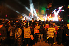 Funcionamiento chino del Año Nuevo 2012 Fotos de archivo