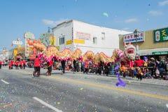 Funcionamiento chino del dragón Fotos de archivo libres de regalías