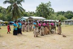 Funcionamiento cultural del Fijian imagen de archivo libre de regalías