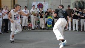 Funcionamiento de Capoeira almacen de metraje de vídeo