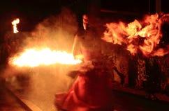 Funcionamiento de fuego Imagenes de archivo