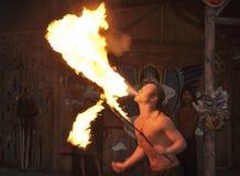 Funcionamiento de fuego del espray Imagen de archivo libre de regalías