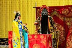 Funcionamiento de la ópera de Pekín Imagenes de archivo