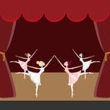 Funcionamiento de la bailarina Foto de archivo libre de regalías