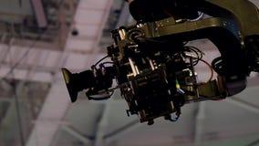 Funcionamiento de la cámara de la grúa en el acontecimiento almacen de video