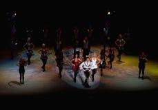 Funcionamiento de la compañía de la danza del irlandés Imágenes de archivo libres de regalías