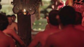 funcionamiento de la danza del kecak, Bali, Indonesia almacen de metraje de vídeo